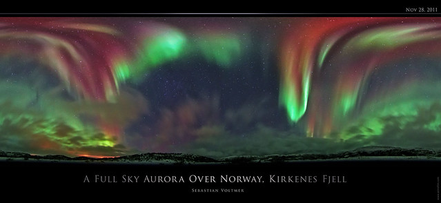 A Full Sky Aurora Over Norway