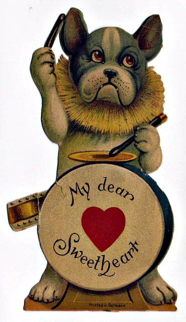 Frenchie Vintage Valentine 'My dear Sweetheart'