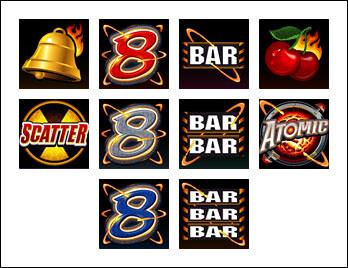 free Atomic 8s slot game symbols