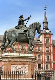 Spain-33 - Felipe III in Plaza Mayor