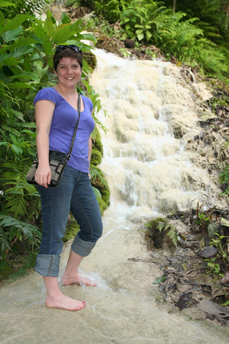 me standing in the waterfall