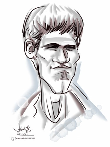 digital caricature on iPad2 Sketchbook Pro