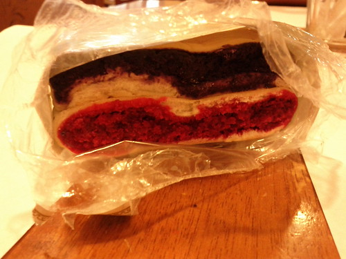 Red and purple bread