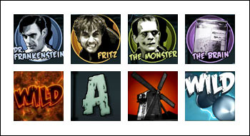 free Frankenstein slot game symbols