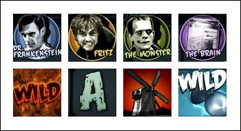 free Frankenstein slot game symbols