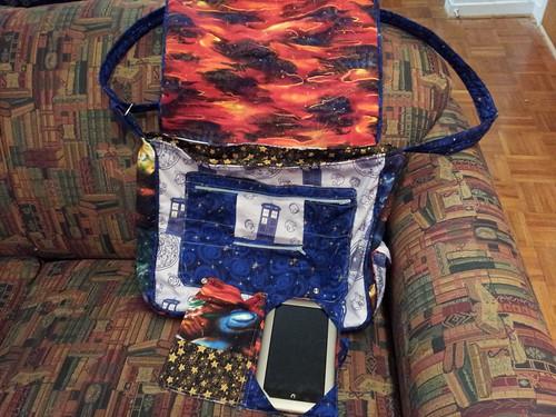 Inside the Nook Cover & TARDIS bag