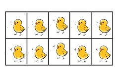 Easter Chick Grid Game (Photo from Förskoleburken)