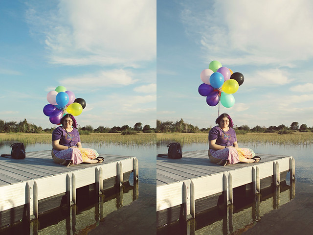 balloon shoot 2 diptych