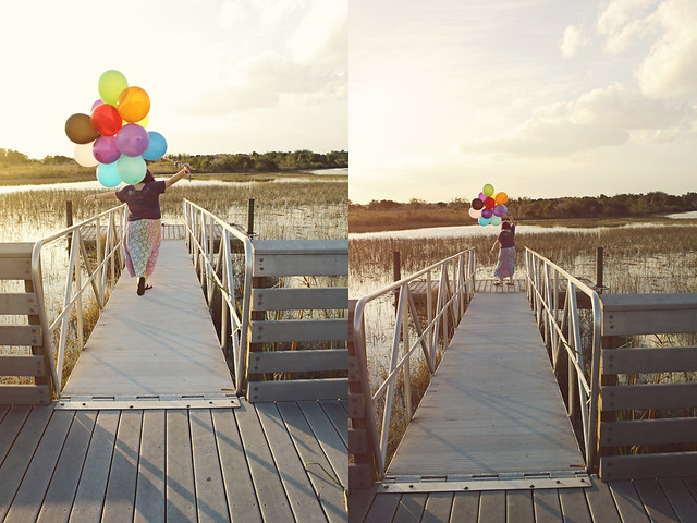 balloon shoot 21 diptych