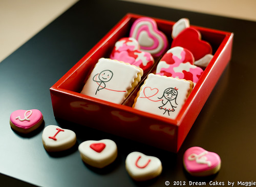 Valentine's Stick Figure Cookie Box