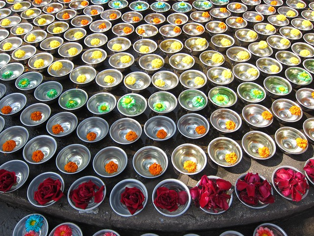 Flowers at Mahabodhi Temple