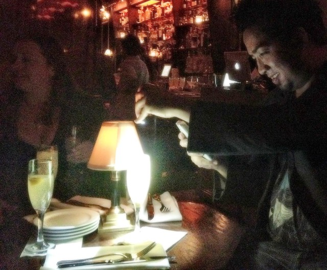 Sneaking a photo at Bar Marmont by Caroline on Crack