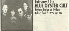 02/15/03 Blue Oyster Cult @ Boulder Station, Las Vegas, NV