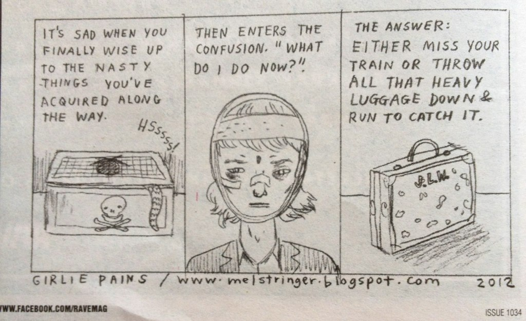 Girlie Pains Emotional Baggage Comic