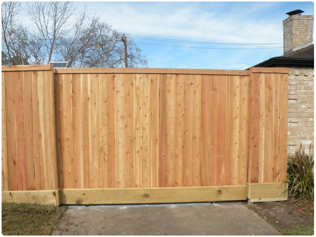 Wood fence with sliding gate flickr photo sharing