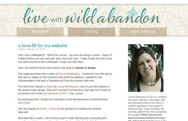 LianneRaymond.com weblog