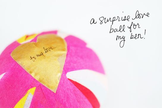 surprise love ball