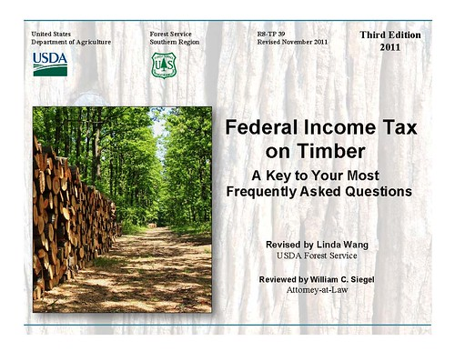 Federal Income Tax on Timber, complete with a current update of the new tax law changes, provides timely tax reporting information for woodland owners and their advisors.