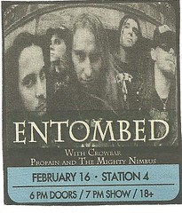 02/16/05 Entombed/ Crowbar/ Pro Pain/ The Mighty Nimbus @ Station 4, St. Paul, MN