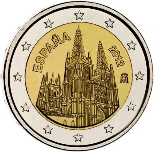 2 Euro Španielsko 2012, Katedrála Burgos