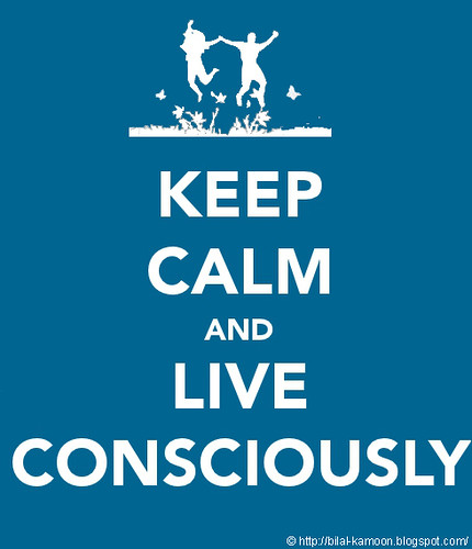 Keep Calm and Live Consciously by Bilal Kamoon