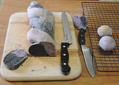 Squid Ink & Blueberry bread
