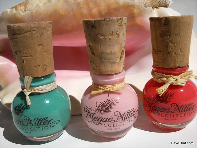 Pretty bottles of Megan Miller nail polish review and gift pick