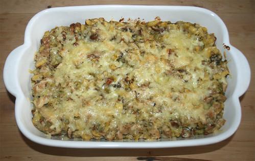 41 - Spätzle-Pilz-Gratin / Spaetzle mushroom au gratin - Fertig gratiniert