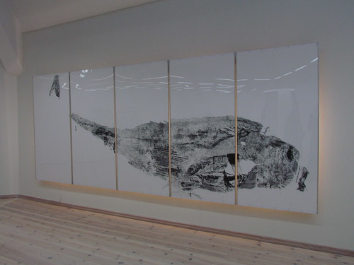 Etching of an entire whale