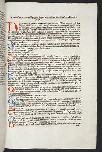 Variant reading in Horatius Flaccus, Quintus: Opera