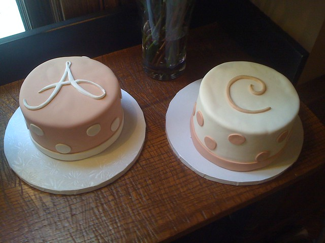 Pink Polka Dot Cakes for the Birthday Girls