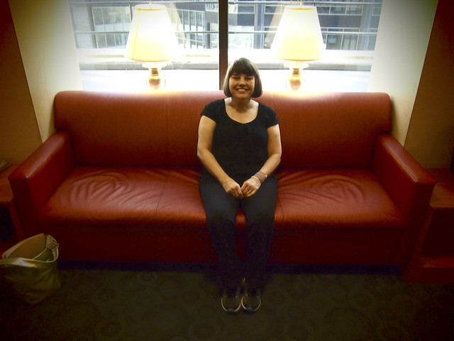 Roberta at MSK waiting room