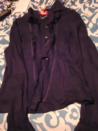 Ralph Lauren Ruffle Shirt L $15