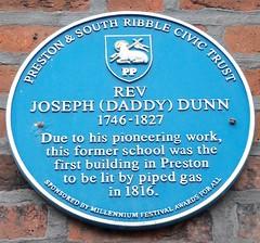 Photo of Joseph Dunn blue plaque