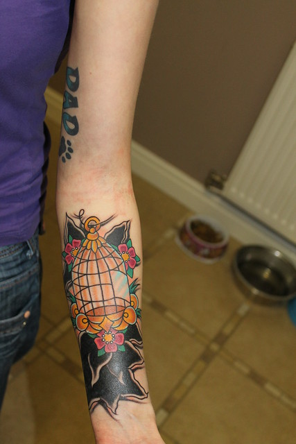 Open Bird Cage Tattoo Open Bird Cage Tattoo
