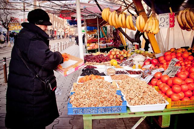 Fresh fruit markets Sofia