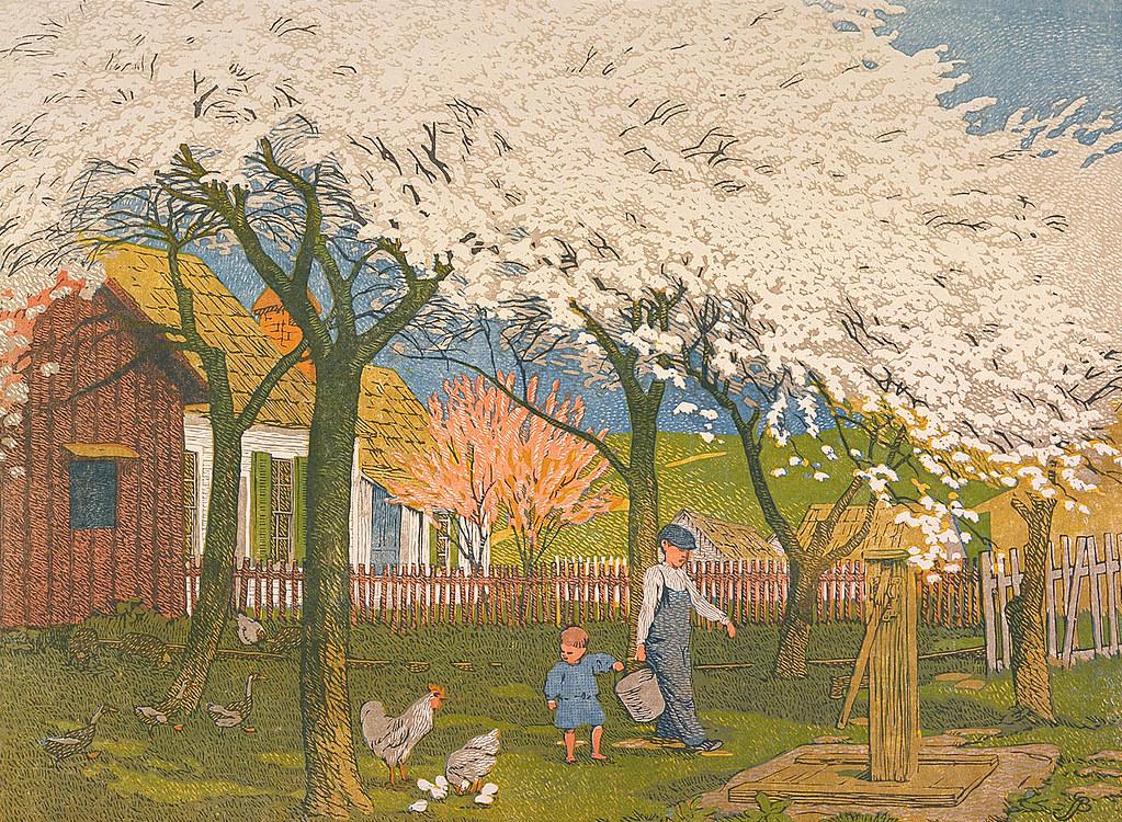 Gustave Baumann - Plum and Peach Bloom [1915]