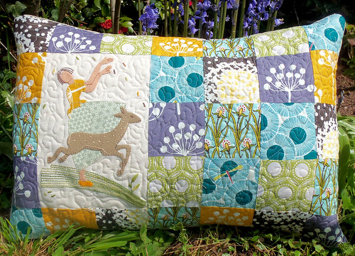 Springtime Quilted Cushion