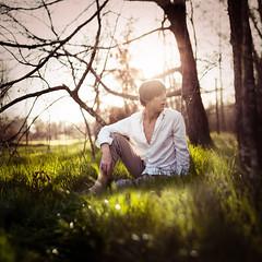 [フリー画像素材] 人物, 男性, 人物 - 森林 ID:201203012200