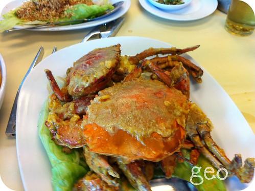 Pantai Seafood -salted egg crabs
