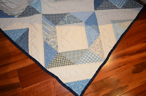 The Blue Quilt - detail