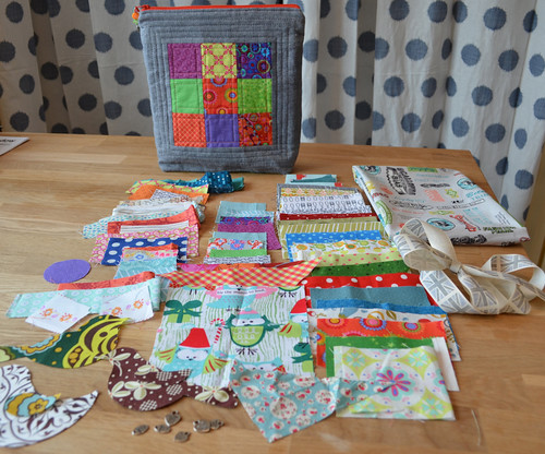 The entire package for me - Mouthy Stitches swap
