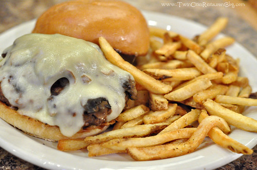 Mushroom and Swiss Burger at Fishtale Grill ~ New Prague, MN