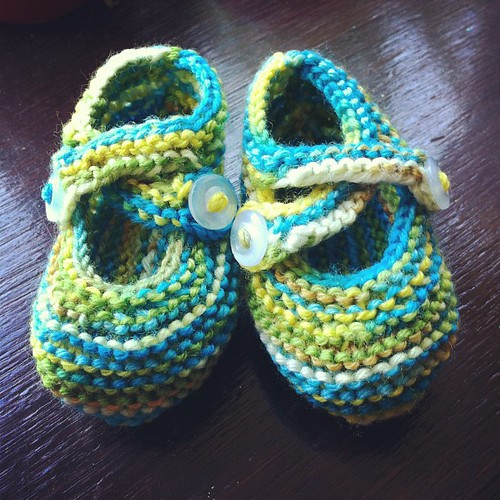 Baby Booties finished!