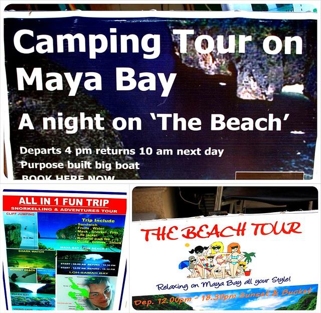 the beach tours Maya Bay