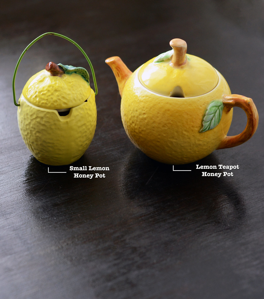 Vintage Lemon Honey Pots