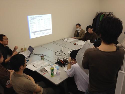 全社で事業戦略ミーティング中。こちらはI-ディビジョン。