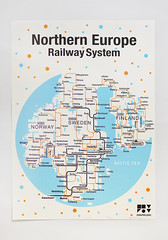 Silk screen poster - Northern Europe Railway System