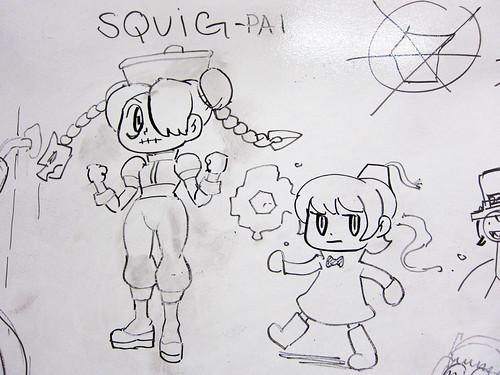 Squig-pai and Fez-brella