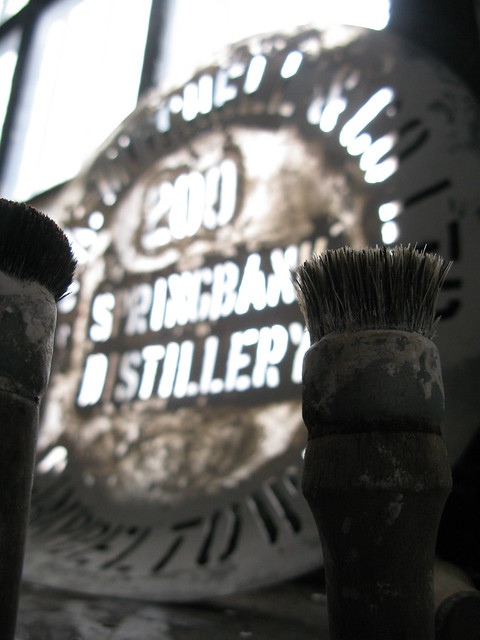 Springbank distillery - stencils & brushes